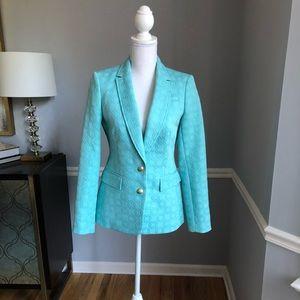 Banana Republic turquoise blazer